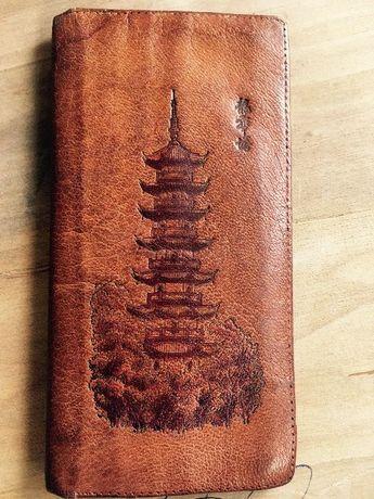 Старинно портмоне..Естествена Кожа..