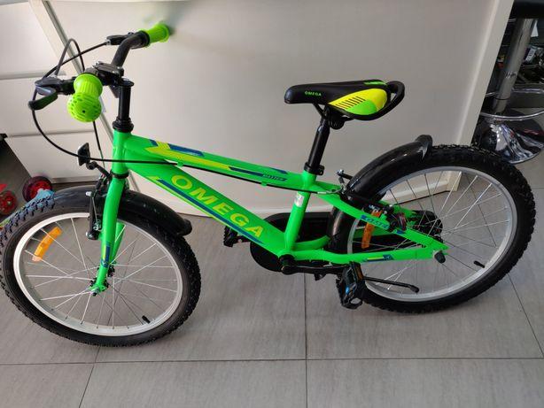 "Bicicleta Omega Master Green 20"" cu roti ajutatoare pt copii 4 - 12ani"
