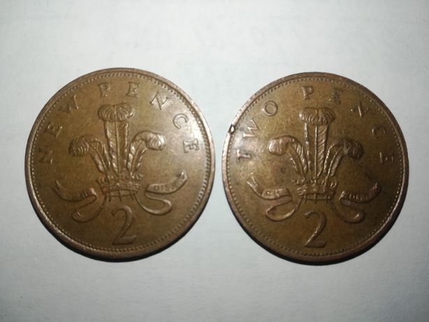 2 New pence. 2 Two Pence.