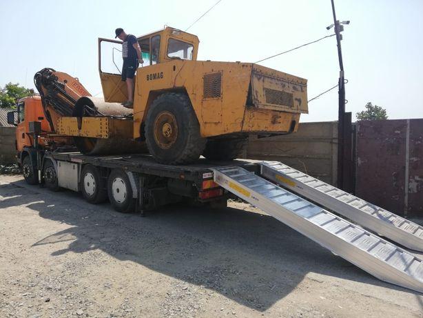 Transport utilaje si echipamente 16 tone , inchiriez camion cu macara