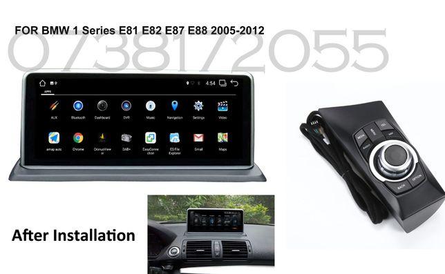 Navigatie GPS Android BMW Seria 1 E81 E82 E87 E88 Bluetooth Internet4G