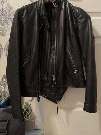 Кожаная куртка! 10 тыс Massimo dutti
