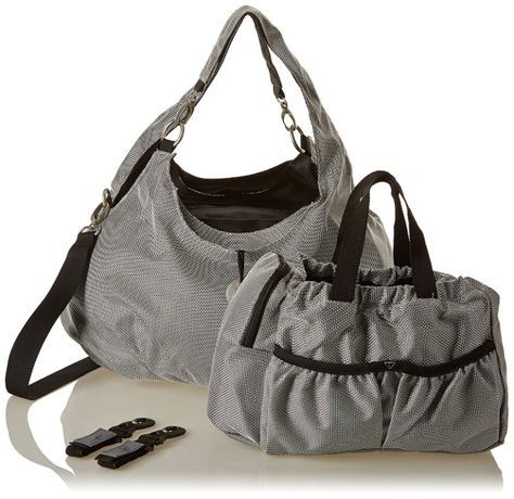 Универсална чанта за бебешка количка Lassig Gold Label Metallic Silver