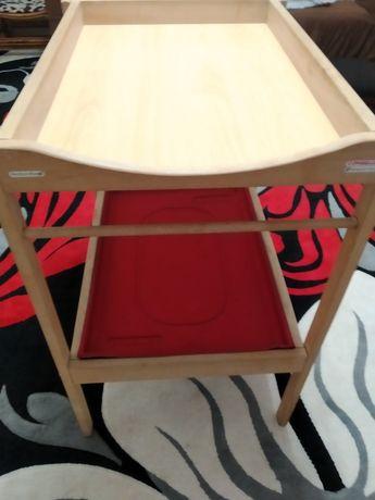 Пеленальный столик Икеа Сниглар бежевый, из натурального дерева Бук