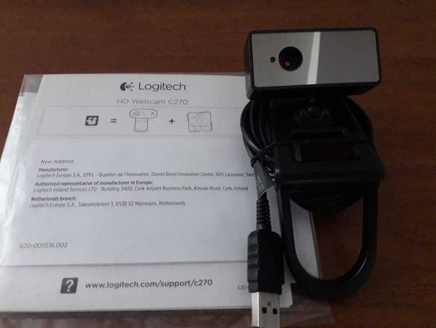 Вебкамера для стационарного компьютера Logitech Webcam C270