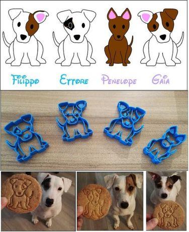 4 forme catei - taiat si modelat aluat biscuiti - 4 prieteni mici!