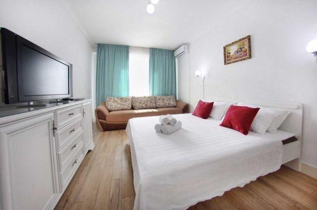 Сдается квартира посуточно в Жк Легенда на Абая Манаса в центре Алматы