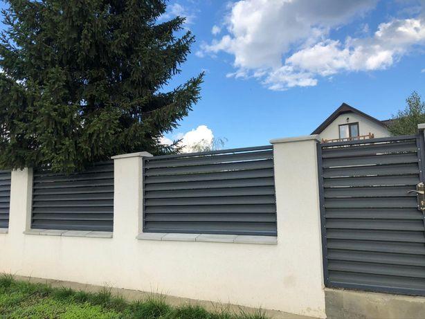 Gard linear, jaluzele gard, lamele gard culoare mat