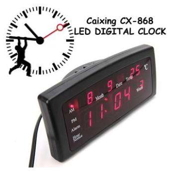 Дигитален LED настолен часовник с аларма и температура