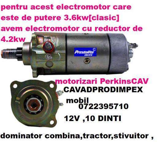 Electromotor CAV stivuitor,combina,tractor,motorizare Perkins,Massey F