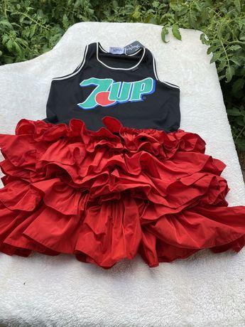 Djofra 7 up нова дамска рокличка уникална С/М размер