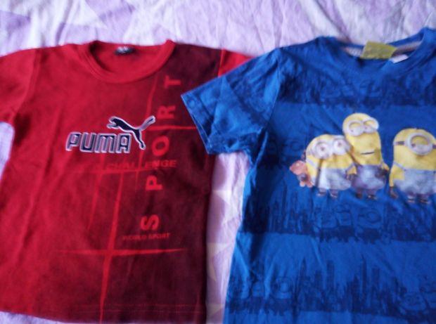 Tricouri noi din bumbac pt copii: Minioni,Puma, Spiderman