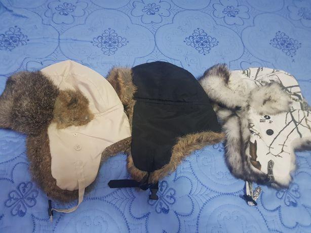 Caciuli iarna cu blana de iepure naturala