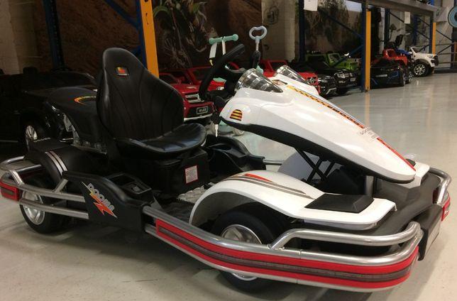 Kart electric pentru copii Dooma GO KART 2x 35W 12V #Alb