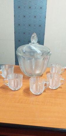 De vânzare bol cristal masiv sau set cristale pentru punch