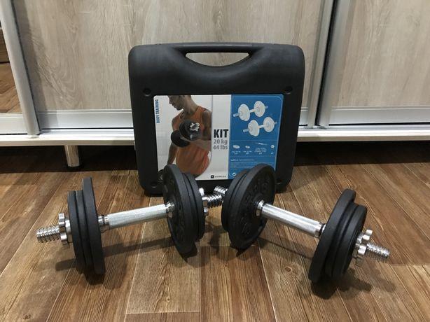 Гантели Decathlon DOMYOS  10 кг 2 предмета