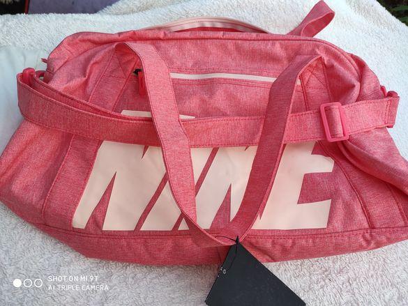 Niie уникална дамска чанта цвят корал оригинална с дълга дръжка