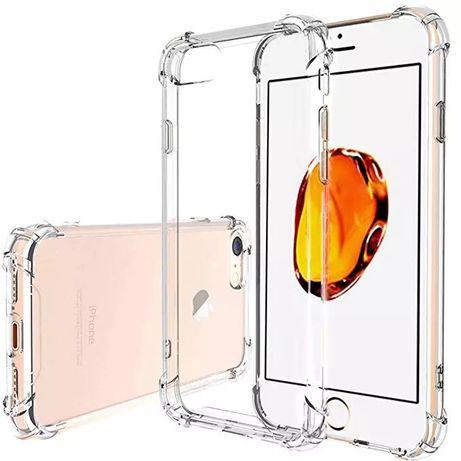 Iphone 5 5S SE 6 6S+ 7 7+ 8 8+ Husa Ramforsata Silicon Transparenta
