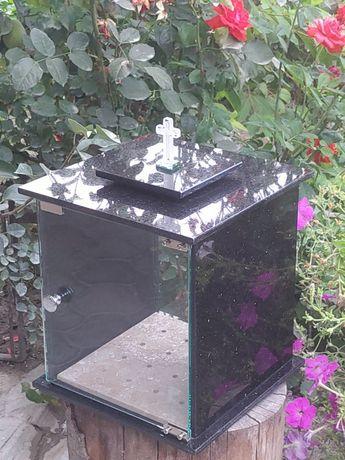 Felinar funerar lumînari cimitir granit candela căsuța