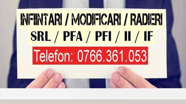URGENT!! Infiintare Firma (SRL, PFA, II)