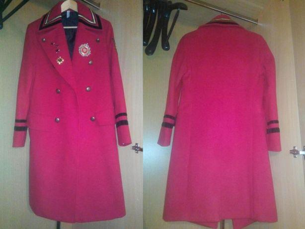 vand Pardesiu Palton haina Zara Man rosu cu negru