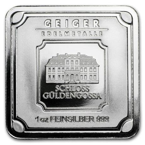 Lingou argint 999 , Geiger Edelmetalle Germania 31 grame