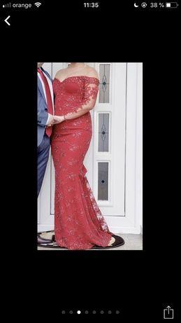 Rochie lunga de seara din dantela Diana Bobar (nasa, nunta)