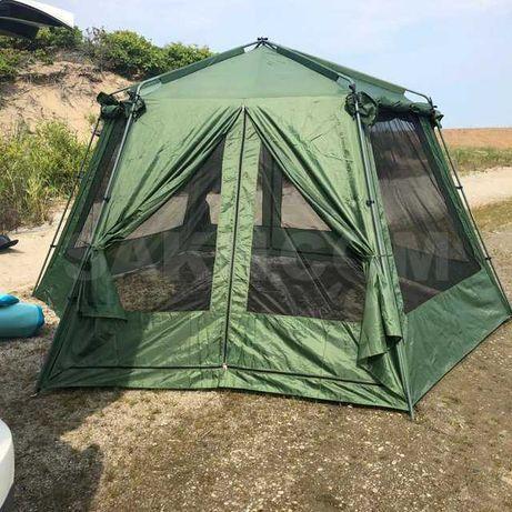 Палатка шатер со стальными дугами туризм рыбалка без пола 3-6 человек