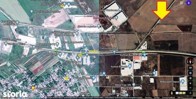 7.6 Ha teren Ciorogarla pentu parc logistic, depozite, hale