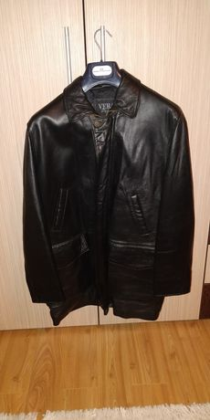 Vand haina de piele barbati iarna marime L-XL