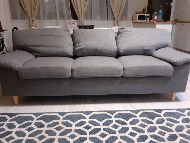 Canapea fixa 3 locuri gri