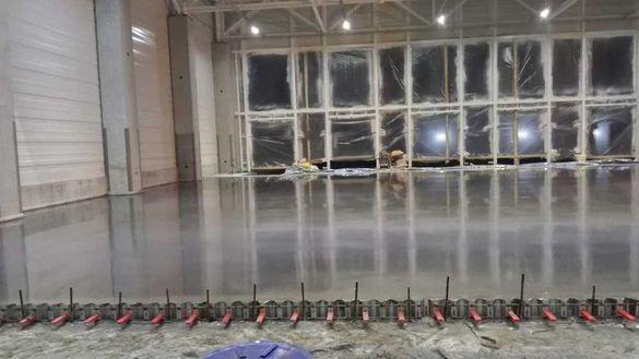Шлайфан бетон, подова замазка с машина 6.50