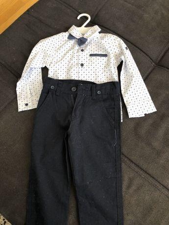 Camasa si pantalon set bebe marimea 80