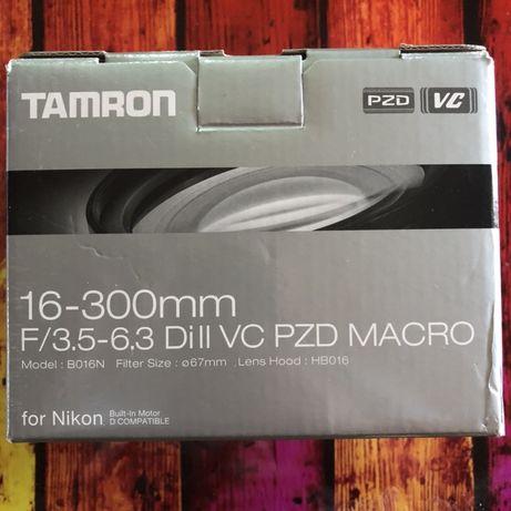 Obiectiv Tamron 16-300mm F/3.5-6.3 Di II VC PZD MACRO.