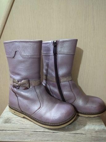 Турецкие кожаные демисезонные сапоги продам