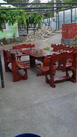 Set rustic lemn masiv