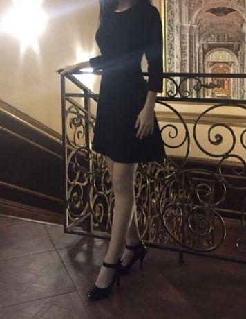 Черное платье на вечер за 2500 тг