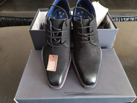 Нови обувки Bugatti, # 42, естествена кожа, оригинал