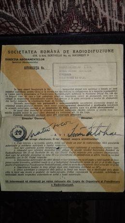 Autorizatie radio 1948