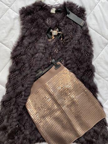PINKO vesta alpaca si blana naturala de la 1900 RON la 900 RON