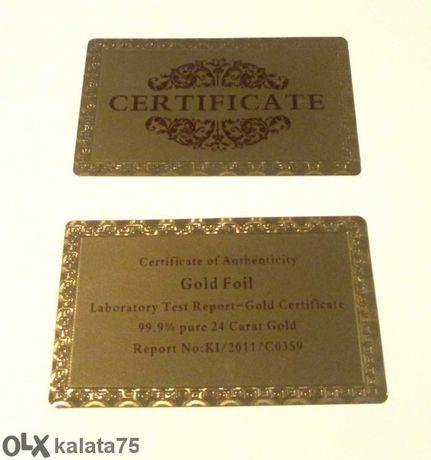Сертификат за златни банкноти - ПРОМОЦИЯ 3 лв