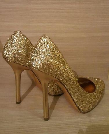 Pantofi Prada Miu Miu, marime 38, gliter