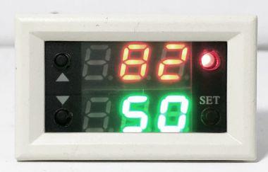 Releu temporizator, digital, dublu, 0-999 s/m/ore - 12V/10A c.c