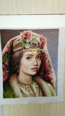 Екатерина по картина на худож.Мария Илиева-кръст бод с ДМС конци