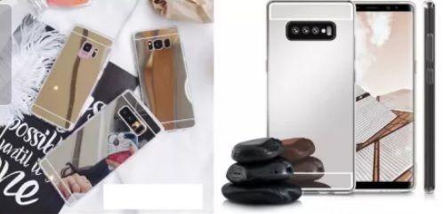 Pomo Husa silicon bumper cu spate oglinda pentru Samsungg Galaxyy S10