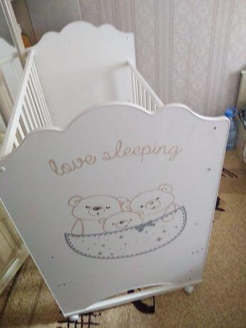 Детская кровать мишки