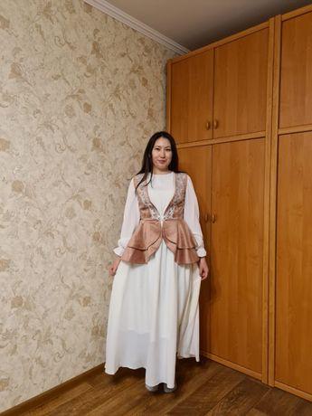 Белое платье для узату или сырга салу