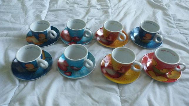 Vand set 8 cești de cafea egan campo di cuori noi cu farfurie
