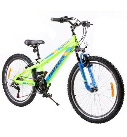 "Bicicleta mountainbike copii Omega Gerald 24"", 18 viteze, verde 2021"
