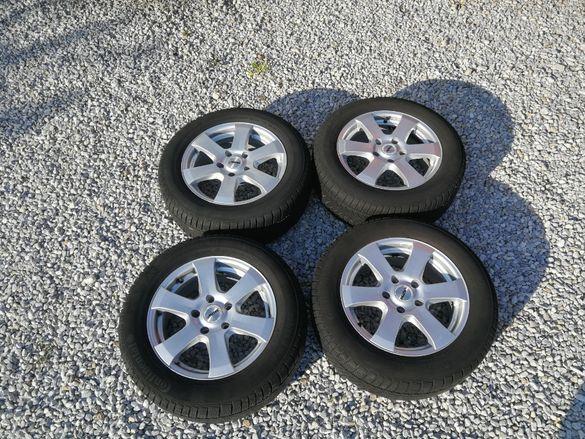 4 алуминиеви джанти 16 цола 5х120 Autec с гуми 225/55 Continental